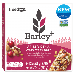 Barley Plus Almond Cranberry Bars